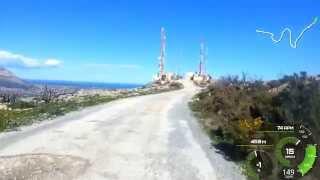 Cumbre del sol - route 11.2% (20 minute steep climb)