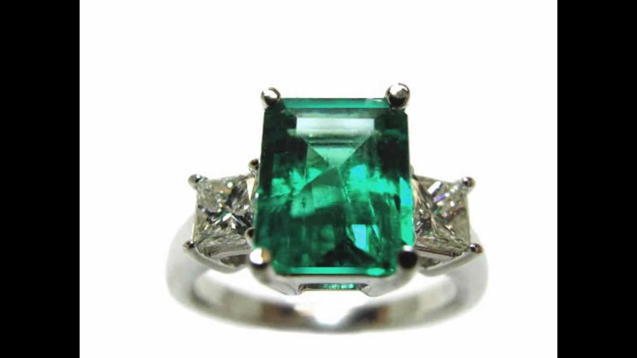 Emerald Engagement Rings Real Colombian Emeralds YouTube