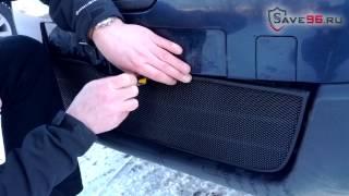 видео Сетка черная в бампер Nissan Qashqai 2011-2014