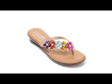 77d0a0acce14 Italian Shoemakers Smilla Floral Accent Sandal - YouTube