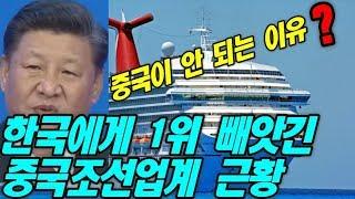 한국에게 1위 빼앗긴  중국 조선업계 근황