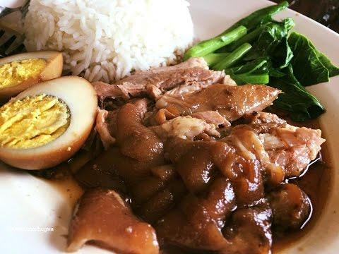 Pork knuckle rice Thailand ข้าวขาหมูมหาชัย