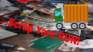 Scrap Load - Car Full of Electronics Waste - Trip to the Scrap Yard