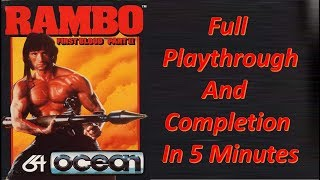 Commodore 64 : Rambo First Blood Part II Full Playthrough