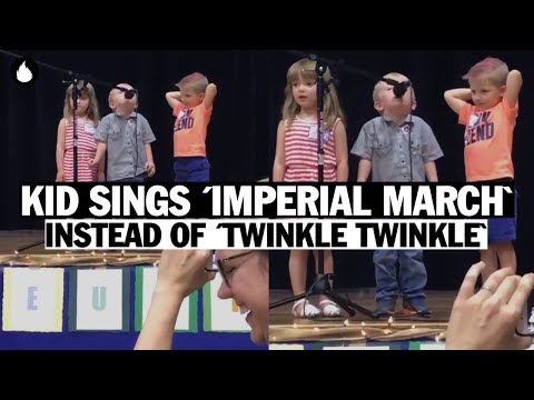 Curtis - Toddler Interrupts Song Recital By Singing Darth Vader's Imperial March