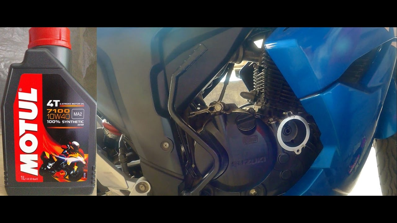 How To Change Engine Oil And Filter Of Suzuki Gixxer 155