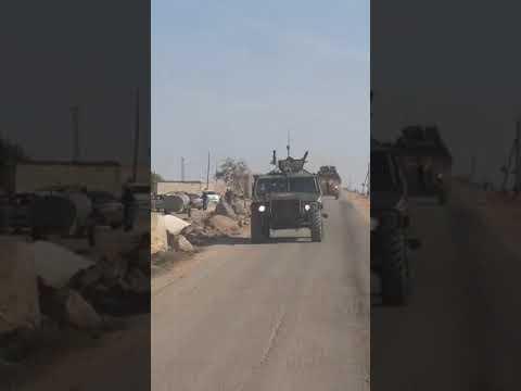Российский военный патруль в Сирии забрасывают камнями