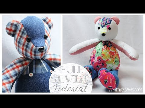 How to Sew a Memory Bear   Simplicity A2115 Step-by-Step   Whitney