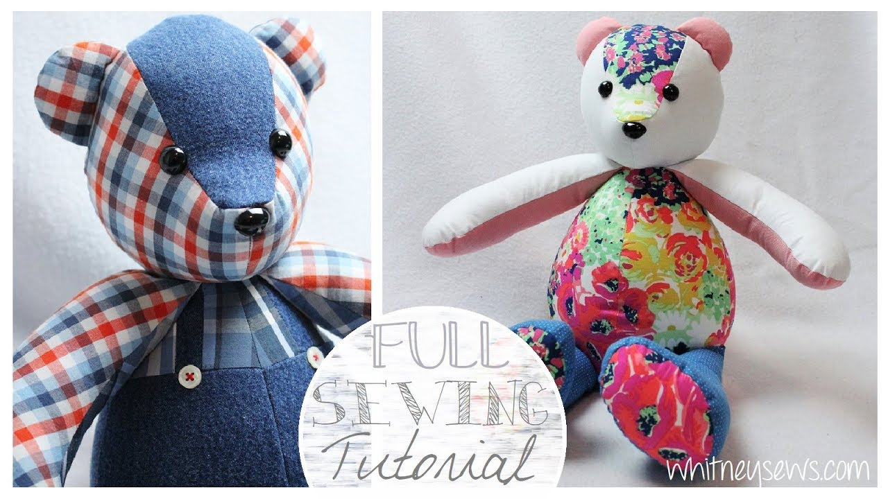 How to Sew a Memory Bear | Simplicity A2115 Step-by-Step | Whitney Sews