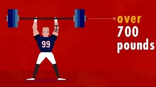 J.J. Watt is not human (NFL infographic)