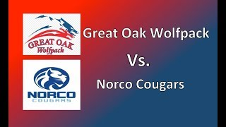 Umpire Missed Call: Burrow SoCal Varsity Great Oak Wolfpack 1st Base vs Norco. Softball Playoff