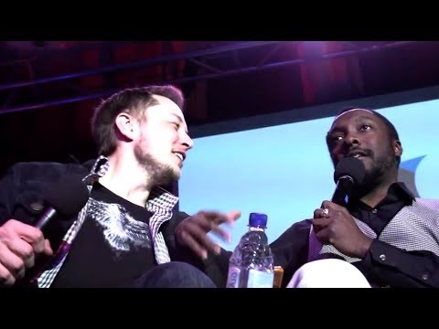 Elon Musk gets some lovin' from will i am 2012