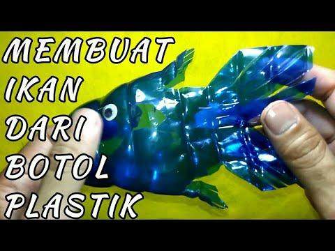 Kerajinan Tangan Cara Membuat Ikan Dari Botol Plastik Youtube