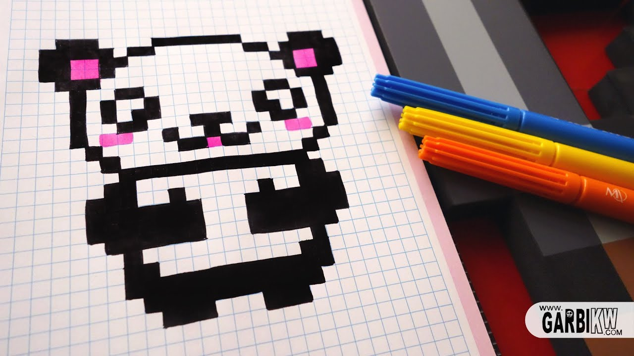 Handmade Pixel Art How To Draw Kawaii Panda Pixelart