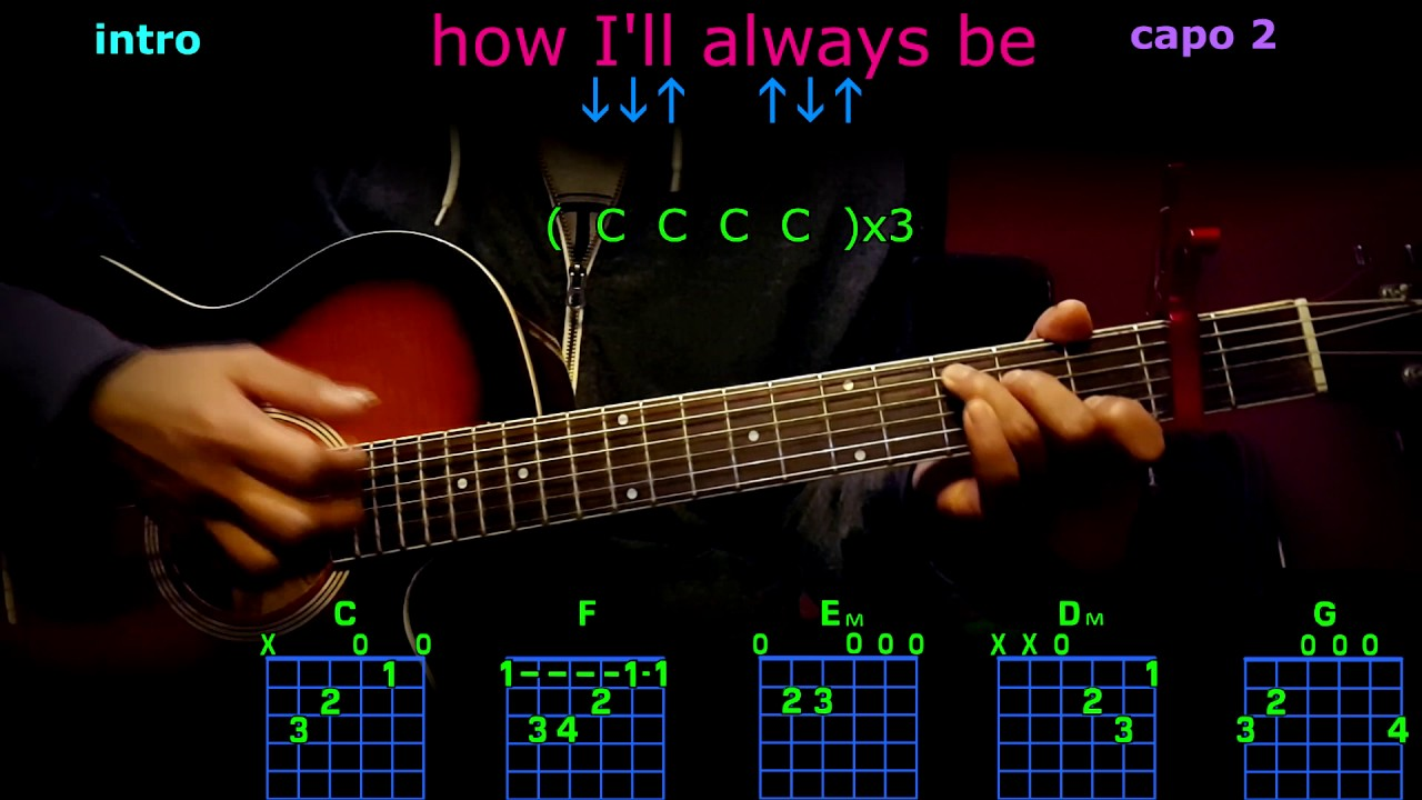 How Ill Always Be Tim Mcgraw Guitar Chords Youtube