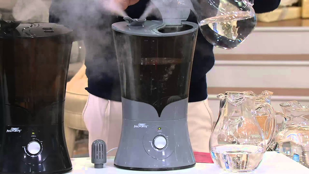 Air Innovations Clean Mist Ultrasonic Top Fill Humidifier On Qvc