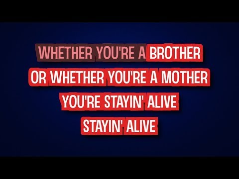 Bee Gees - Stayin' Alive (Karaoke Version)