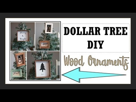 DOLLAR TREE DIY-Wood Ornaments