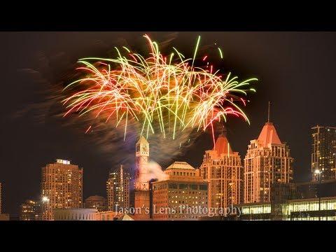 Canada Day 2018 Firework At Celebration Square Mississauga