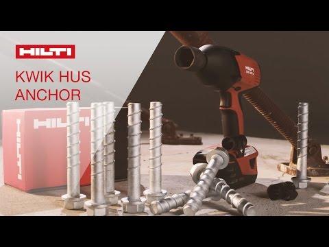 DEMO of the Hilti Kwik HUS screw anchor and reusability gauge