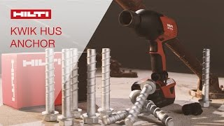 DEMO of the Hilti Kwik HUS screw anchor and reusability gauge