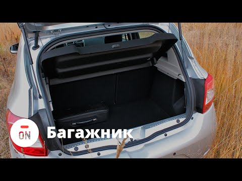 Тест драйв Рено Сандеро (Renault Sandero) 2014 - багажник (ч.8)