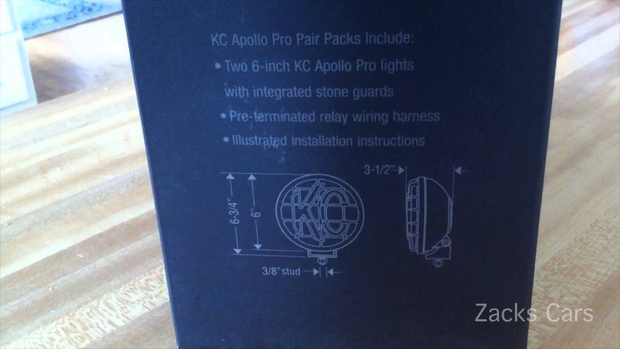 Apollo Pro Kc Lights Unboxing Youtube For Light Relay Wiring Diagram