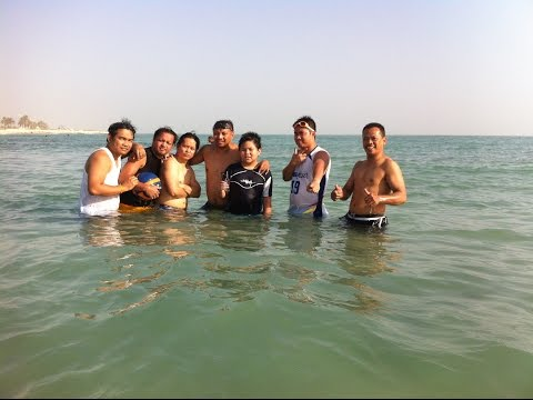 FILIPINO CELEBRATE EID AT RAS TANURA BEACH