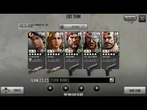 The Walking Dead: Road to Survival | Basic Defensive team set up for beginners.