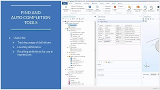 How to Use the Find and Auto Completion Tools in COMSOL®