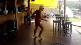 Professional Dancer @ Loutraki Seaside beach bar!!(Hilarious guy trying to impress a girl by dancing 25 kinds of dance, all mixed together!!! Very funny video!!! capture by: Director Savvas., 2009-07-29T08:48:20.000Z)