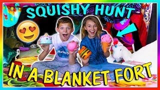 SQUISHY HUNT IN A BLANKET FORT! | We Are The Davises