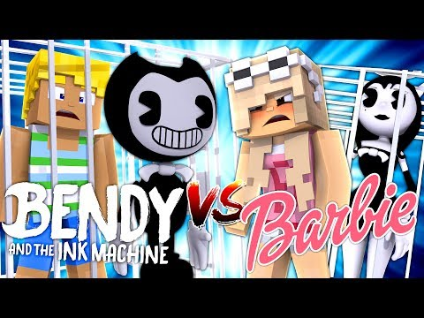 Thumbnail: Minecraft BENDY AND THE INK MACHINE V'S BARBIE - BENDY HAS BARBIE'S BOYFRIEND KEN IN HIS BASEMENT!!