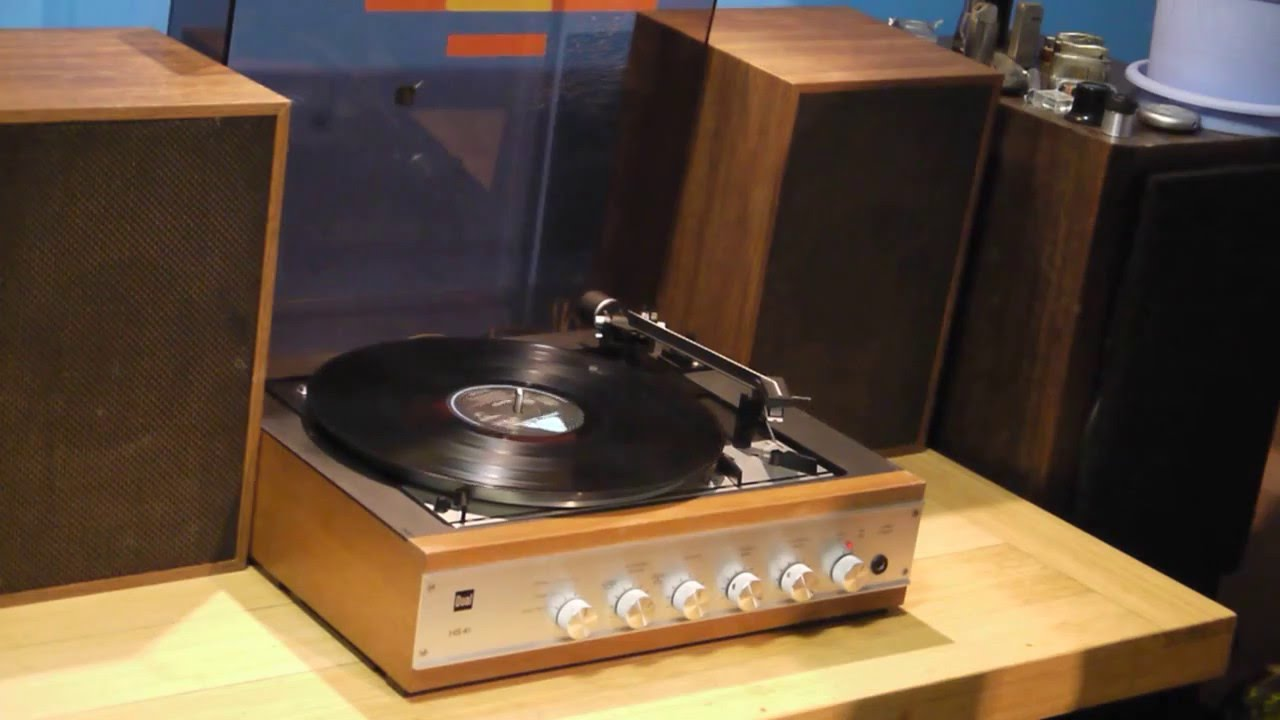 Record Turntable Amplifer And Turntable Record Player Dual Hs-41. - Youtube