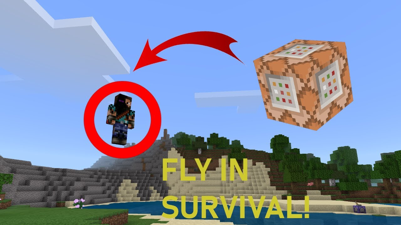 How to FLY in Survival (NO MODS) Minecraft Bedrock Command