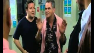 EXTRAS Bloopers: Ricky Gervais 'Yuma, Yuma, Yuma'