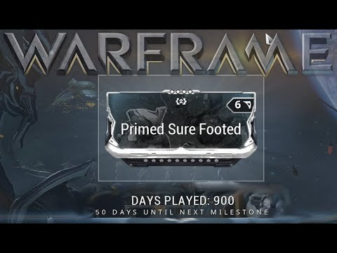 warframe primed sure footed 900 days played reward youtube. Black Bedroom Furniture Sets. Home Design Ideas