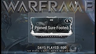 Warframe - Primed Sure Footed (900 Days Played Reward)