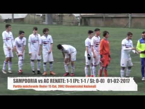 Sampdoria vs AC Renate: 1-1 Under 15 Amichevole Highlights 01-02-2017