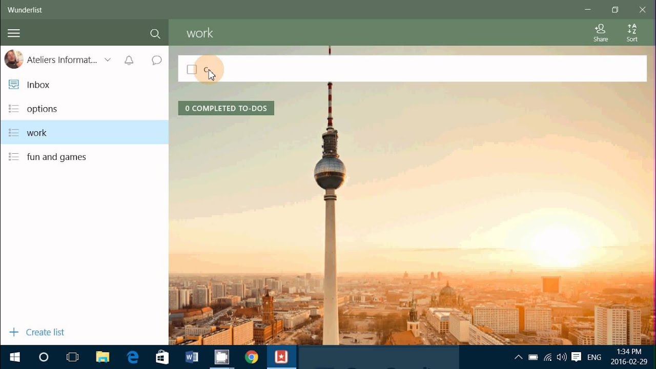 Windows 10 app look and review Wunderlist to do lists great app to stay up  to date with your busy sc