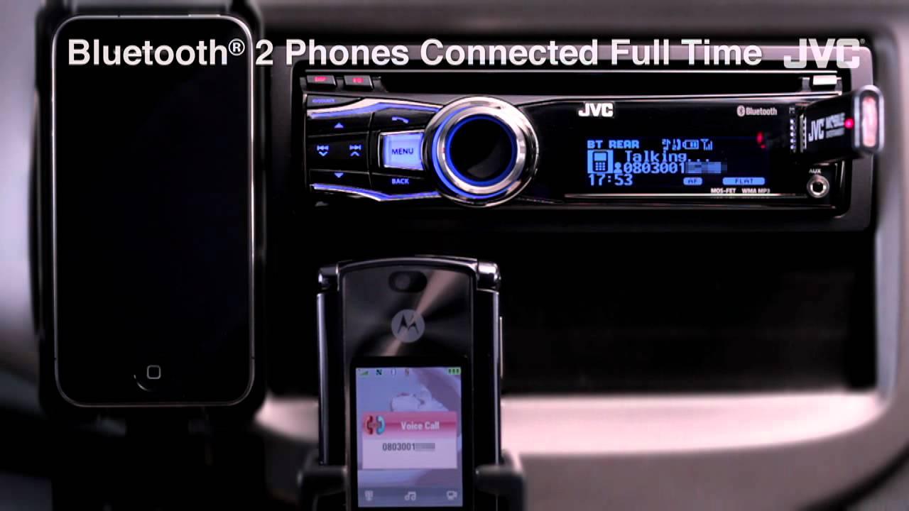 "JVC Mobile Car Audio Receiver ""Bluetooth(R) 2 Phones"