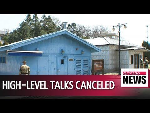 North Korea cancels high-level inter-Korean talks, citing S. Korea-U.S. joint drills