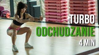 TABATA  ♥ 4 min Ćwiczenia na Odchudzanie  ♥ Trening na TURBO SPALANIE KALORII