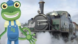 Trains For Kids | Gecko And The Steam Train | Vehicles For Kids | Gecko's Garage | Videos For Kids