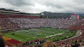 rose bowl 2017 national anthem and b2 stealth bomber flyover usc vs penn state