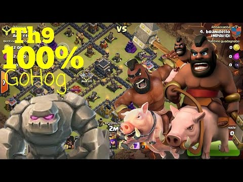 COME FARE 3 STELLE con DOMATORI [TUTORIAL] GoHog TH9 | Clash of Clans TOP Strategy