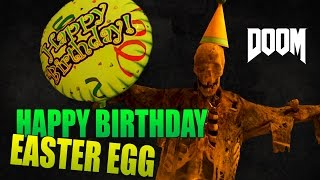 Doom 4 | Happy Birthday Easter Egg (Secret Room Location with Birthday Cake)