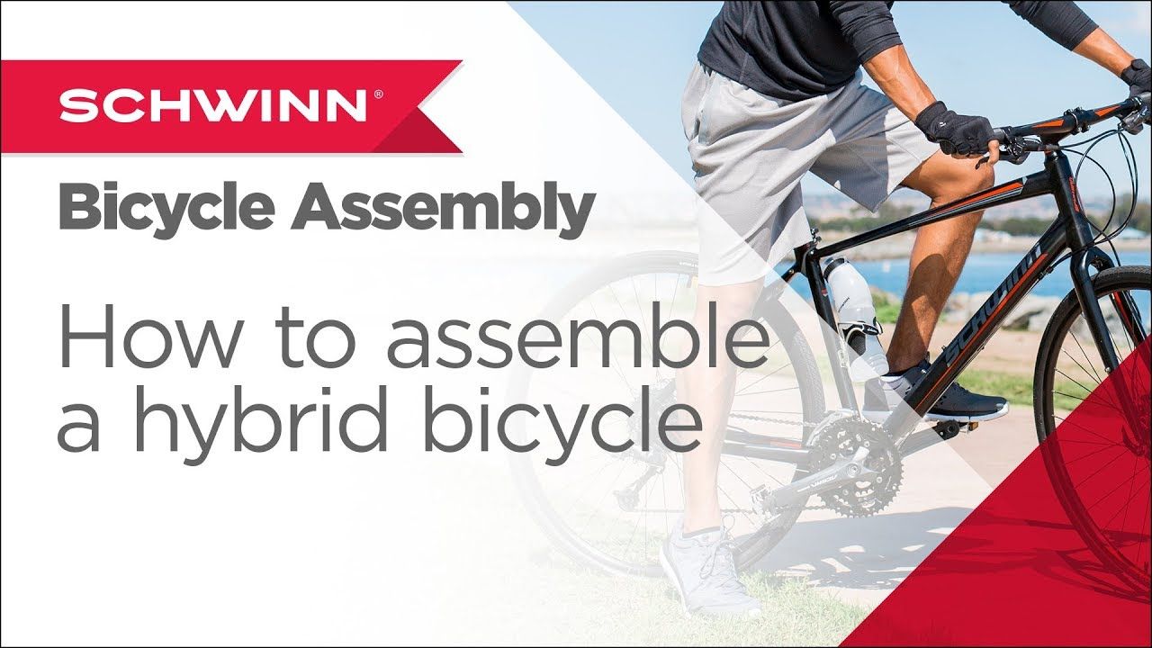 ee8f5dfcae7 How to Assemble a Schwinn Adult Hybrid Bicycle, Gears, Brakes - YouTube