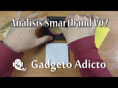Análisis Smartband V07 con puerto de carga USB (en Español)