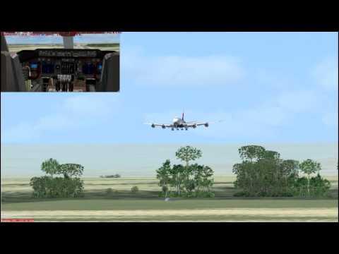 B747-8I landing into Kinshasa Democratic Rep Congo (FZAA)